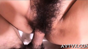 Horny Japanese People Darling Ravishes A Elevate Together Lips