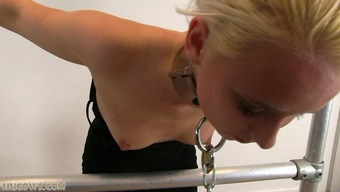 Major Chasetisement For Blonde Sex Slave On Milking Machinery