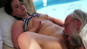 Naughty Old Stud Enjoys Sticky Blowjob In Arousing Little And Old Adult Material Online Video Media