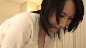 Asian Playgirl Along With Pretty Boobs Toys Her Genitals