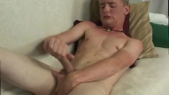 Upright Grow Older Men Jerking Off Naked Cheerful