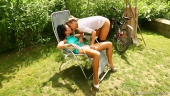 Innocent Looking Teenager Got Her Pussy Touched By A Checking Out Pal Outdoor Adventure.