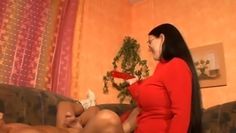 3 Horny The German Language Fathers Playing With A Dildo