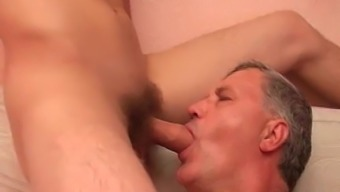 Old Dude Twiddling With Teenager Cocks