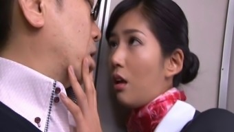 Very Delicious Japanese Stewardess Gets Missing Extreme While On Board