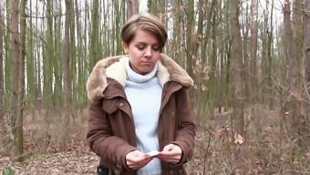 Outside Sexual Intercourse Inside The Woods Along With Sasha Zima For Cash