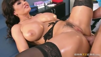 Oversexed Brunette Milf Gets Her Cherry Fucked In Pup And Missionary Positions