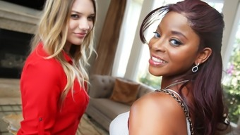 Interracial Lesbian Sexual Intercourse With The Use Of Kenna James &Amp; Jasmine Webb