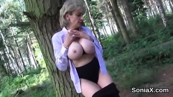 Cheating Uk Milf Lady Sonia Exhibits Her Large Bre