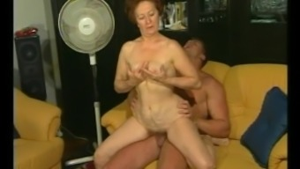 Vintage Granny Gets Warm Dicking From Muscled Bf