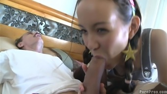 Petite Oriental Toddler Fuck Through Use Of An Old Males