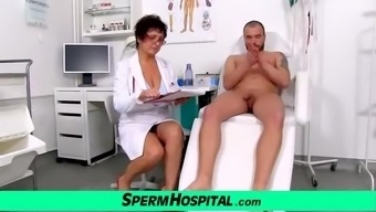 Busty Cougar Medical Professional Greta Old And Young Cfnm