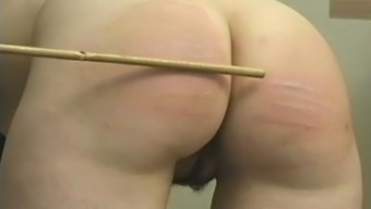Schoolgirl Floor Spanked And Caned