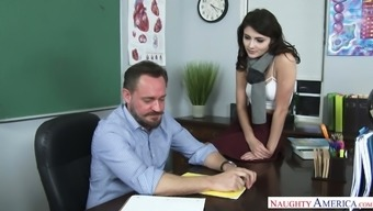 Hypnotically Attractive Adria Rae Suggested Intercourse To Really Her Teacher Permanently Degrees