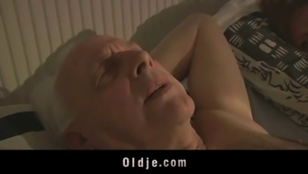 Grandpa Sexblessed By Heated Swedish Player Pussy