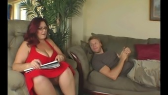 Great Titted Bbw Aid To His Cock