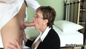 Cheating The English Language Milf Lady Sonia Uncovers Her Huge Containers