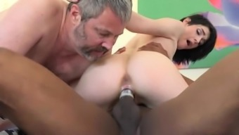 Ivy Aura Fucks National When In Front Of Her Old Spouse
