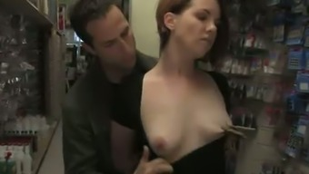 Bodacious Redheaded By Using Minimal Sprightly Titties Gets Dealt With In The Community Position