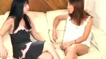 Mean Sweet And Sandra Spank A Guy In A Bed Room