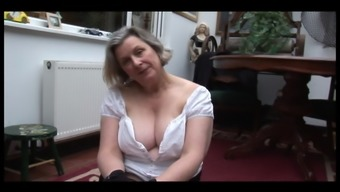 Plus Size Granny In Stockingsshowing Off Furry Pussy