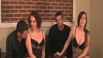 Wavering Spouses In Lingerie Are Changed Out Right By Their Husbands