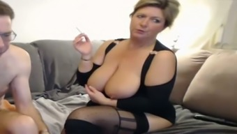 Plump Blond Senior Gives Me Scalp And Rubs Her Slot