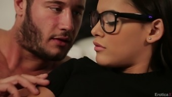 Horny Young Adult In Eye-Glasses Getting Her Beaver Hammered Extreme In Bedroom