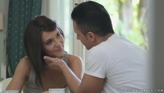 Lovable Brunette Alexis Brill Gets Fucked Toward The Kitchenette Counter