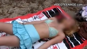 Gorgeous Young Adult At Shore.Mp4