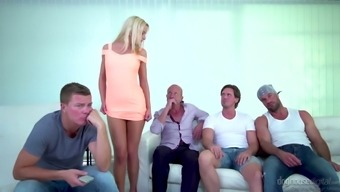 Perfect Blondie Victoria Genuine Could Easily Please Two Different Strong Cocks (Fmm)