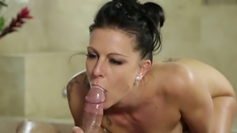 Excitedly Perverted Masseuse South Texas Patti Fucks Her Client Along With Delight