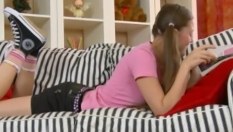 Blond Young Adult Will Get A Challenging Rectum Dicking On The Divan