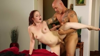 Blonde Fucked Toward The Massage Therapy Table Through A Toned Stud