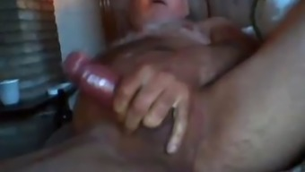 Grand Father Stroke And Ejaculate