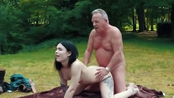 Sensual Party Changes To Sexy Fuck For Grandpa And Her Teen Girl Friend