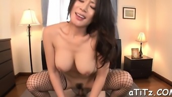 Pretty Asian Playgirl Gives Exciting And Wild Environment Titty Fuck