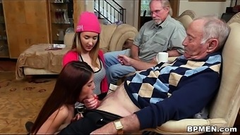 Tiny Teenager Gigi Flamez And Rally Spew Like Old Males