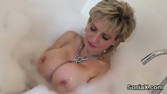 Roving The United Kingdom Senior Woman Sonia Exposes Her Large Boobies15g