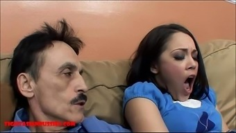 Tiny Asian Teen Small Pussy Gets Damaged By Dirty Old Adult Man And Gets Grandpa Orgasm With Her Lips