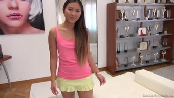 From Asia Gorgeous With A Pierced Pussy May Thai Gets Double Infiltrate