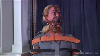Blond Milf Cherie Deville Fixed Gagged In A Straitjacket And Wheelchair Exhaust