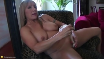 Vital Granny Tapes Down And Performs Around Together Sexual Clit