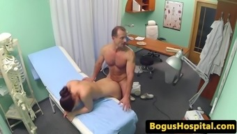 Physician Pussy Fucks Cleaner Before Look After Sympathized