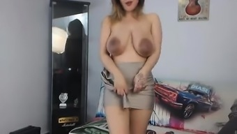 Large Boobs Blonde Spied On And Reamed