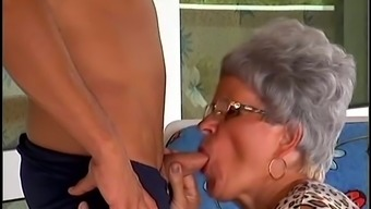 Lewd Granny Adele Delivers And Savours Some Kinky Bumping Among The Lawn