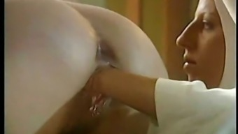 Lesbian Nun Fists Her Friends Outfit