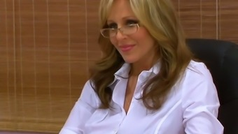 Amazing Sexy Blonde Boss Julia Ann Gets Poked From Behind In Office