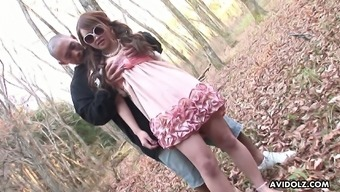 Wearing Cute Dress And Sunglasses Lusty Ayumi Inamori Gets Poked In The Woods