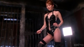 Appealing Miku Ohashi Dressing Leather-Based And Having Fun Back With Her Partner